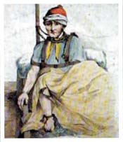 An inmate at Bethlehem Hospital in 1815 - better known as 'Bedlam'