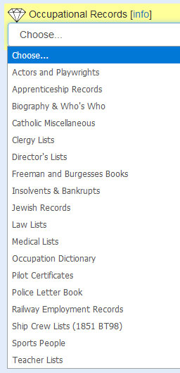 TheGenealogist's Occupational Records