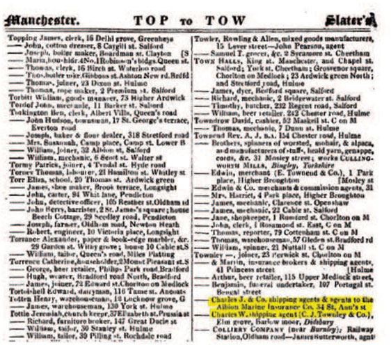 Slater's Directory for Manchester 1856
