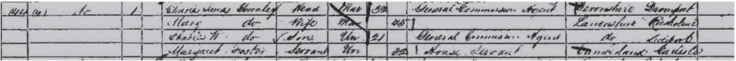 Townley's parents in the 1861 census