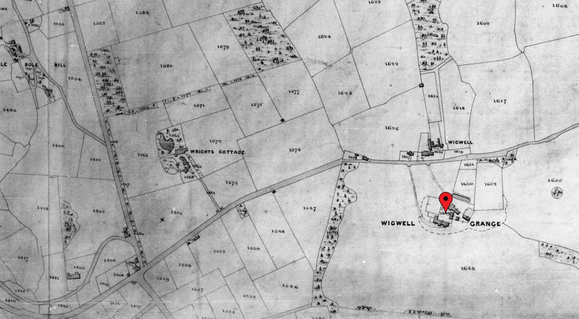 Wigwell Grange Tithe Map