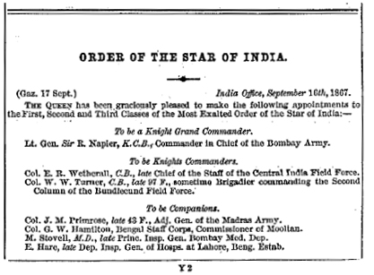 Army List for October 1867