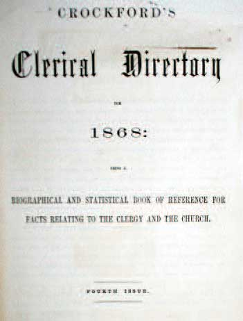 Clerical Directory cover