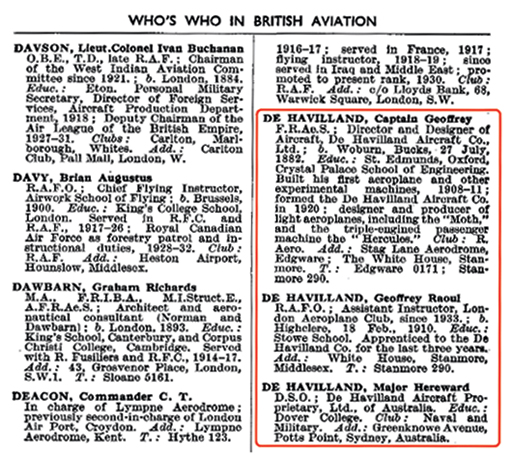 Who's Who in Aviation 1938