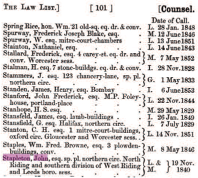 The Law List 1856