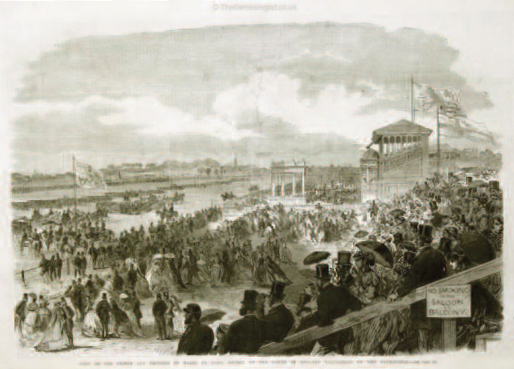 Military review at York racecourse 1866