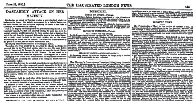 The Illustrated London News June 29th 1850