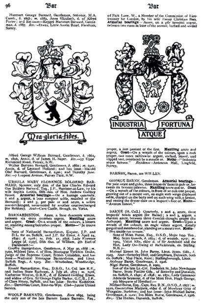 Armorial Families Vol 1