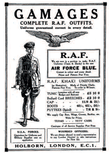 One of many tailors'advertisements
