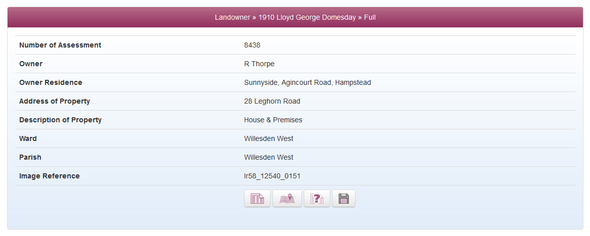 Lloyd George Domesday Survey Data
