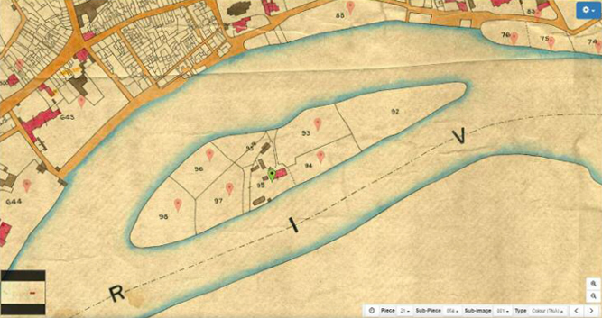 Tithe map of Eel Pie Island