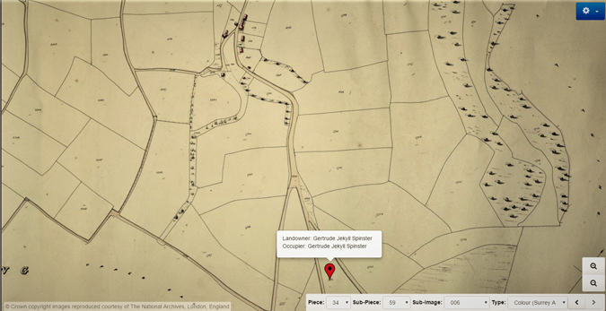 Munstead Wood tithe map