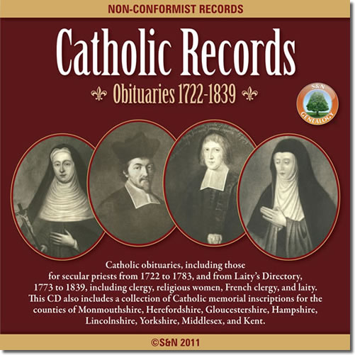 Catholic Records - Obituaries 1722-1839