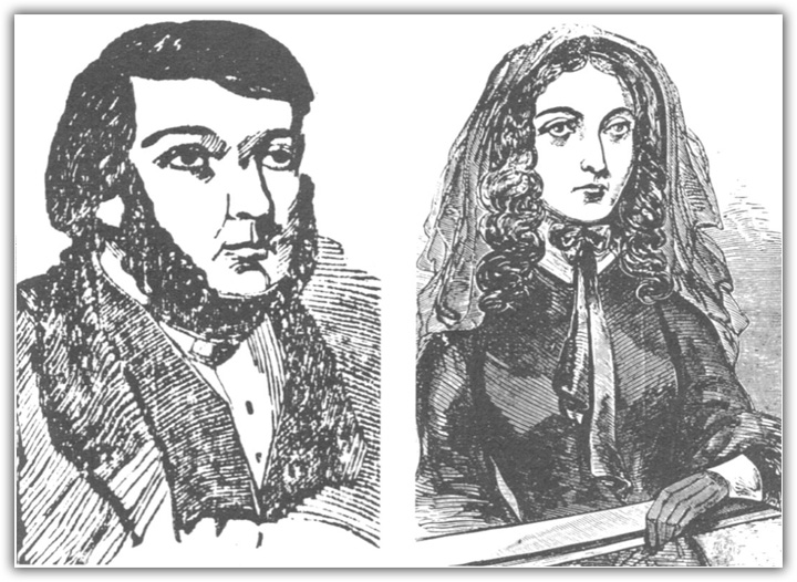 James Rush and Emily Sandford at their Trial